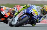 Rossi en position de pointe