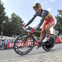 Philippe Gilbert lors du prologue du Tour de France
